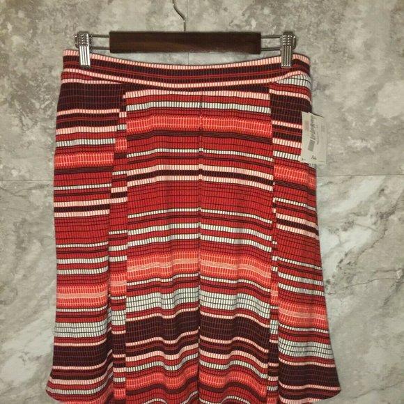 LULAROE Madison Skirt Size XL Extra Large Red
